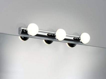 Paulmann 704.71 WallCeiling Proxima IP44 LED 3x3, 5W Chrom/Weiß 230V Metall/Kunststoff