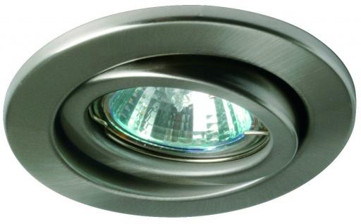 Nice Price Basic Einbauleuchte schwenkbar max.50W 230V GU10 51mm Eisen gebürstet/Metall
