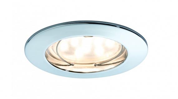 Paulmann 928.13 Premium Einbauleuchte Set Coin dimmbar klar rund st LED 3x7W 2700K 230V 51mm Chrom/Alu Zink