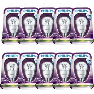 10 x 3W LED Leuchtmittel Philips E14 Fassung Warmweiß 250Lumen 2700K A+ Klar 25W Hell
