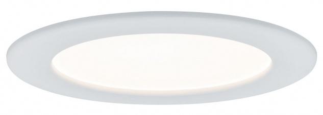 TIP Einbauleuchte Set Panel rund LED 1x12W 230V 3000K 170mm Weiß/Kunststoff