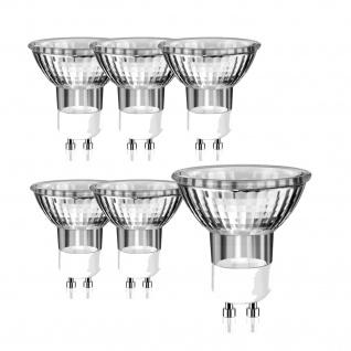 6x GU10 Halogen Leuchtmittel 230V Reflektorlampe 50W