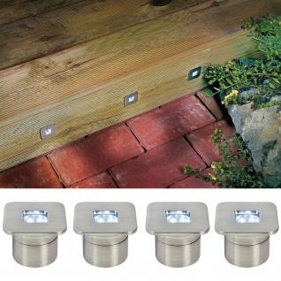 Profi EBL Set Mini LED 4x0, 8W 10VA 230/12V 35mm Edelstahl/Metall