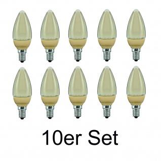 10x 28087.10 Paulmann E14 Fassung LED Kerze 1, 4W Gold