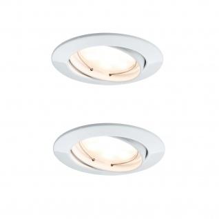 2x 500.06.02 Paulmann SmartHome Bluetooth Goal Einbauleuchte Set LED 5, 8W dimmbar schwenkbar 230/24V 51mm Weiß m/Alu Zink