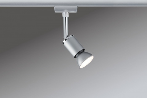 URail System Spot Pure II max. 1x10W GU10 Chrom matt/Chrom 230V Metall