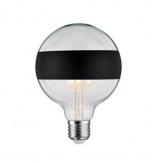 Paulmann LED Globe 125 5W E27 230V Ringspiegel mattschwarz 2700K dimmbar