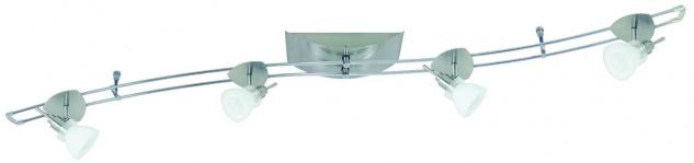 Paulmann Schienensystem Hip Verbier 150 4x35W GU4 Eisen gebürstet/Opal 230/12V 150VA Metall/Glas