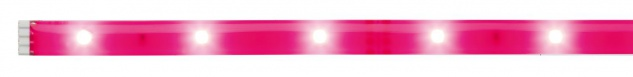 Paulmann Function YourLED DECO Stripe Neon Pink 1m Warmweiß 2, 4W 12V DC Weiß Kunststoff