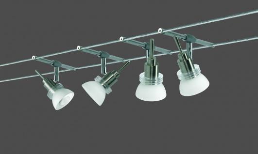 Paulmann Wire System Verbier 150 4x35W GU4 Eisen gebürstet/Opal 230/12V 150VA Metall/Glas