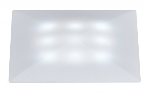 Paulmann Special Einbauleuchte Set UpDownlight Quadro LED 3x1W 230/12V 50mm Satin/Kunststoff