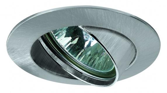 Paulmann Premium Einbauleuchte Set schwenkbar 50W 60VA 230/12V GU5, 3 51mm Eisen gebürstet/Alu Zink