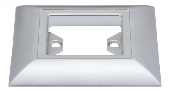 Paulmann 988.61 Profi Aufbauring rostfrei eckig UpDownlight Quadro LED 80mm Chrom matt/Alu