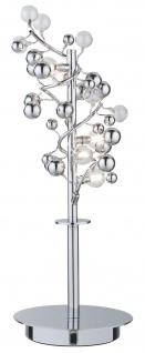 Paulmann Living Sfera Tischleuchte 5x10W G4 Chrom transparent 230V/12V Metall/Glas