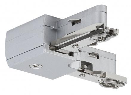 Paulmann URail Schienensystem Light&Easy L-Verbinder starr Chrom matt 230V Metall