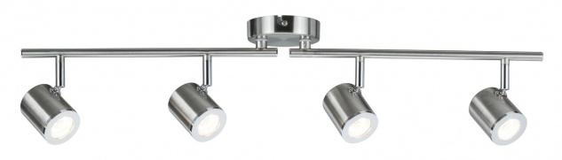 Paulmann 666.61 Spotlight Tumbler 4x4, 5W Nickel 230V Metall