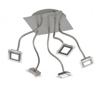 ETT 50170 Deckenleuchte Cholet 5 flg. LED 25 W 3.000 K 1.500 lm Nickel-matt