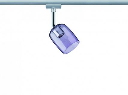 Paulmann URail Schienensystem Spot Blossom max. 1x25W G9 Chrom matt/Pink transparent 230V Metall/Glas