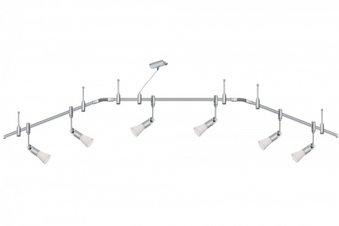 973.38 Paulmann Phantom Set Rail System Phantom Set Phari 6x40W G9 Titan/Opal 230V Metall/Kunststoff/Glas