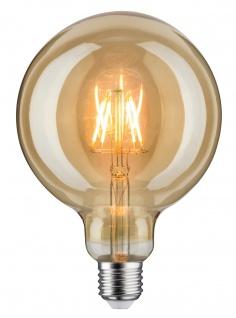 Paulmann LED Globe 125 6, 5W E27 230V Gold 1700K