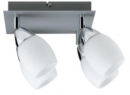 Paulmann Deckenleuchten 60078.LED Spotlights Wolba Rondell 4x4W LED GU10 230V Chrom matt Metall/Glas