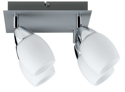 Paulmann Deckenleuchten 60078.LED Spotlights Wolba Rondell 4x4W LED GU10 230V Chrom matt Metall/Glas - Vorschau 1