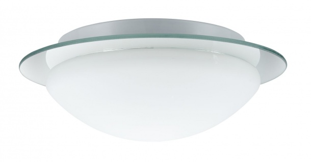 Paulmann 703.48 WallCeiling Mirfak IP44 max.60W E27 320mm Weiß/Spiegel/Opal 230V Metall/Glas