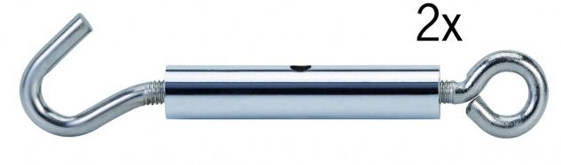 178.00 Paulmann Seil Zubehör Wire System Light&Easy Seilspanner 1 Paar Chrom Metall - Vorschau