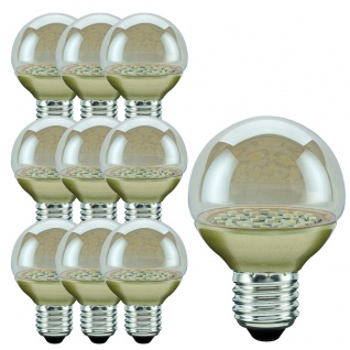10 Stück 280.79 Paulmann E27 Fassung LED Miniglobe 60 1x2, 3W E27 Gold