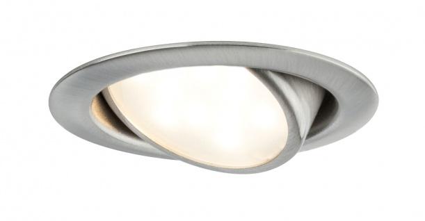 Paulmann 920.89 Möbel Einbauleuchte Set LED schwenkbar 3x4, 2W 13VA 230/350mA Eisen gebürstet/Metall