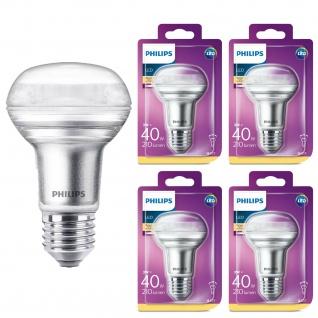 4er Pack 8718696811573 LED Leuchtmittel Philips Reflektor 3W entspricht 40W 210 Lumen E27 warmweiß nicht dimmbar