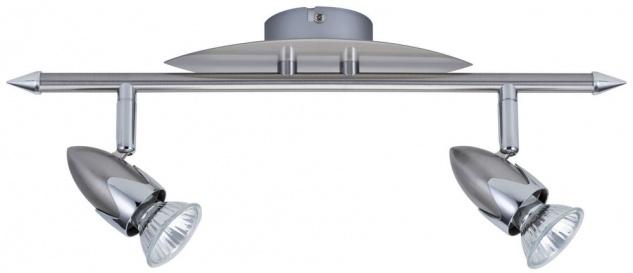 663.50 Paulmann Deckenleuchte Spotlights Tina Balken 2x50W GU10 Nickel satiniert 230V Metall