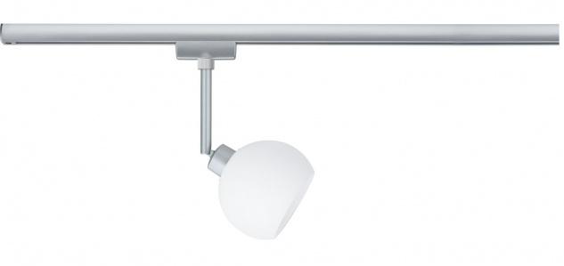 URail System LED Spot Wolbi 1x3, 5W GZ10 230V Chrom matt/Weiß 230V Metall/Glas