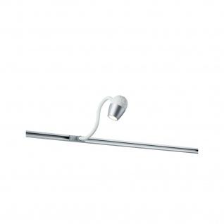 Paulmann URail Schienensystem LED Leseleuchte Knob 1x5, 5W Chrom matt 230V Metall/Kunststoff