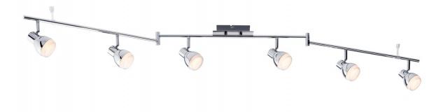 Paulmann 603.68 Spotlight Gloss LED 6x4, 6W Chrom 230V Kunststoff