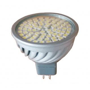 LED Leuchtmittel 5W GU5, 3 3000K Warmweiss 12V 380lm Silber