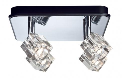Paulmann 601.69 Spotlights IceCube LED Balken 4x3W Chrom 230V Metall/Glas