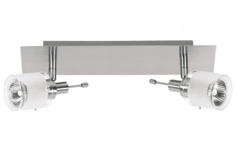 Nice Price 3695 Nice Price Spotlights A Balken 2x50W GU10 Nickel satiniert/Satin 230V Metall/Glas