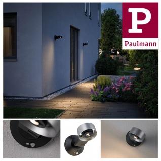 Paulmann Aussenleuchte 230V Cone Lamp IP44 8W 3000K silber anthrazit Alu Acryl