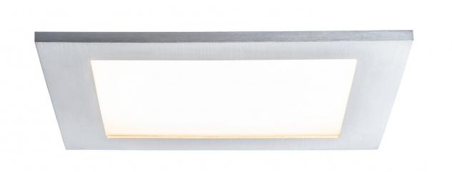 Paulmann Premium Einbauleuchte Set Panel IP44 eckig LED 1x11W 2700K 230V Alu gebürstet/Sat Alu/Kunststoff