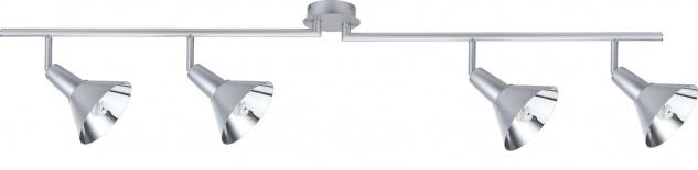 Paulmann 665.53 Spotlights Energy Energiesparlampe Balken 4x9W E14 Chrom matt 230V Metall