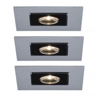 Paulmann 994.65 Premium Einbauleuchte Set Cardano LED 3x(1x1W) 230V Chrom matt/Alu
