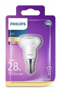 929001235558 Philips Reflektor mit Drehsockel, 2, 2 W (28 W), E14, warmweiß, Reflektor