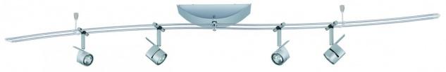 975.78 Paulmann 12V Rail Set Rail System MiniPower 140 4x35W GU4 Chrom matt 230/12V 150VA Metall