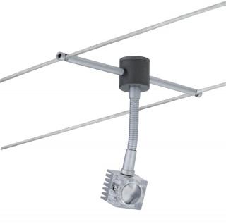 Paulmann Wire System Light&Easy Spot GEO Flex max. 1x3W Chrom matt Metall - Vorschau 2