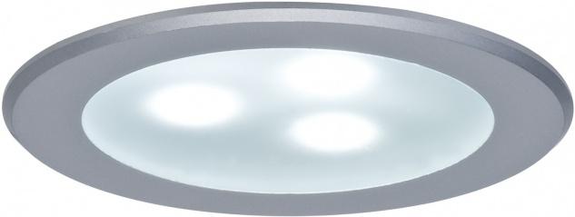 Möbel EBL Set high power LED 3x3W 9VA 230V/350mA 76mm Chrom matt