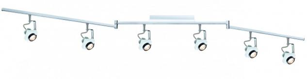 Paulmann 602.63 Spotlight Phase Stange 6x5W Weiß Chrom 230V Metall