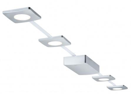 PadLED EcoPad Square 5m Set 4x2, 2W 15VA Chrom matt 230V/12V DC Kunststoff