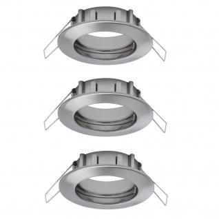 Paulmann 997.38 2easy Premium Einbauleuchte 3er Spot-Set IP44 starr 51mm Eisen gebürstet
