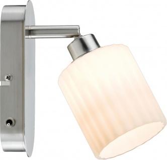 Paulmann 601.38 Spotlights Zylino Balken 1x3W Eisen gebürstet/Weiß 230V Metall/Glas